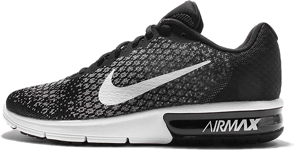 Nike Air MAX Sequent 2 Zapatillas de Trail Running, Hombre, Multicolor (Black/White/Dark Wolf Grey 005), 49.5 EU: Amazon.es: Deportes y aire libre