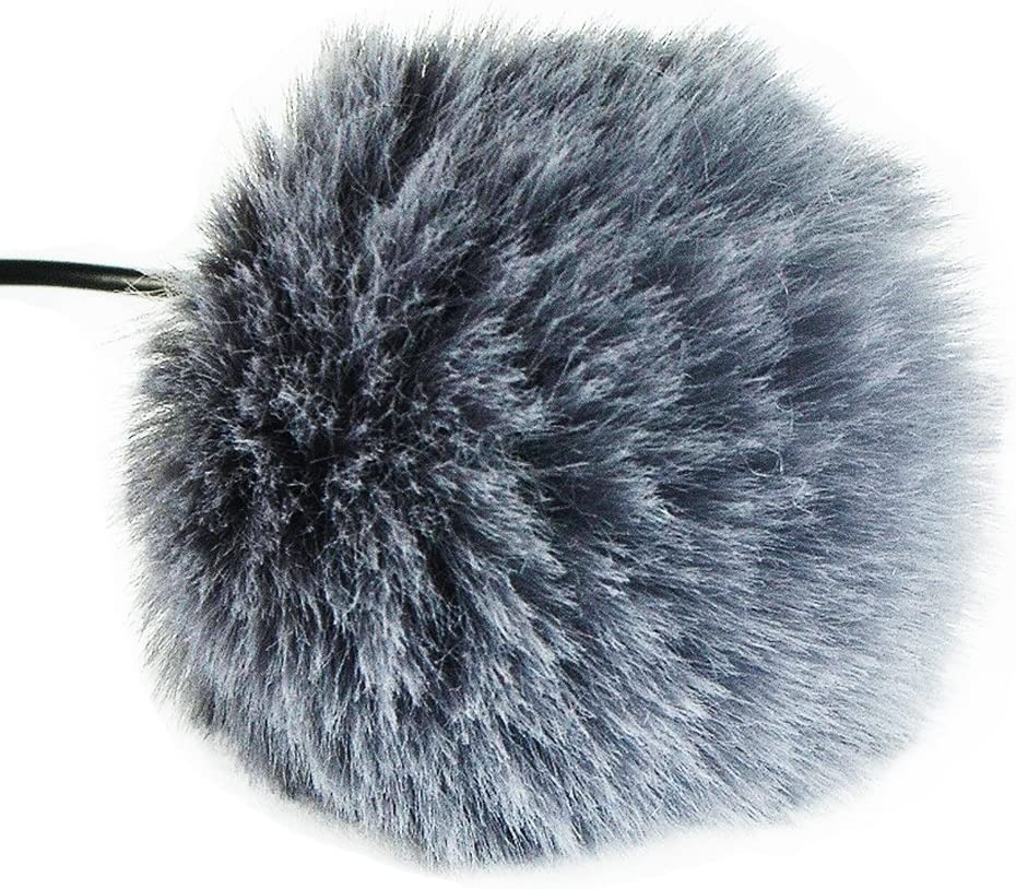 First2savvv TM-D11-C18 Outdoor Portable Digital Recorders Furry Microphone Mic Windscreen Wind Muff for BOYA BY M80D M40C M8C
