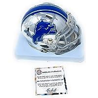 $199 » Barry Sanders Detriot Lions Signed Autograph Rare CHROME Speed Mini Helmet Schwartz Sports…