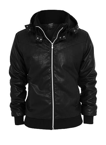 Urban Classics Hombre sintética de Chaqueta de Piel Leather ...