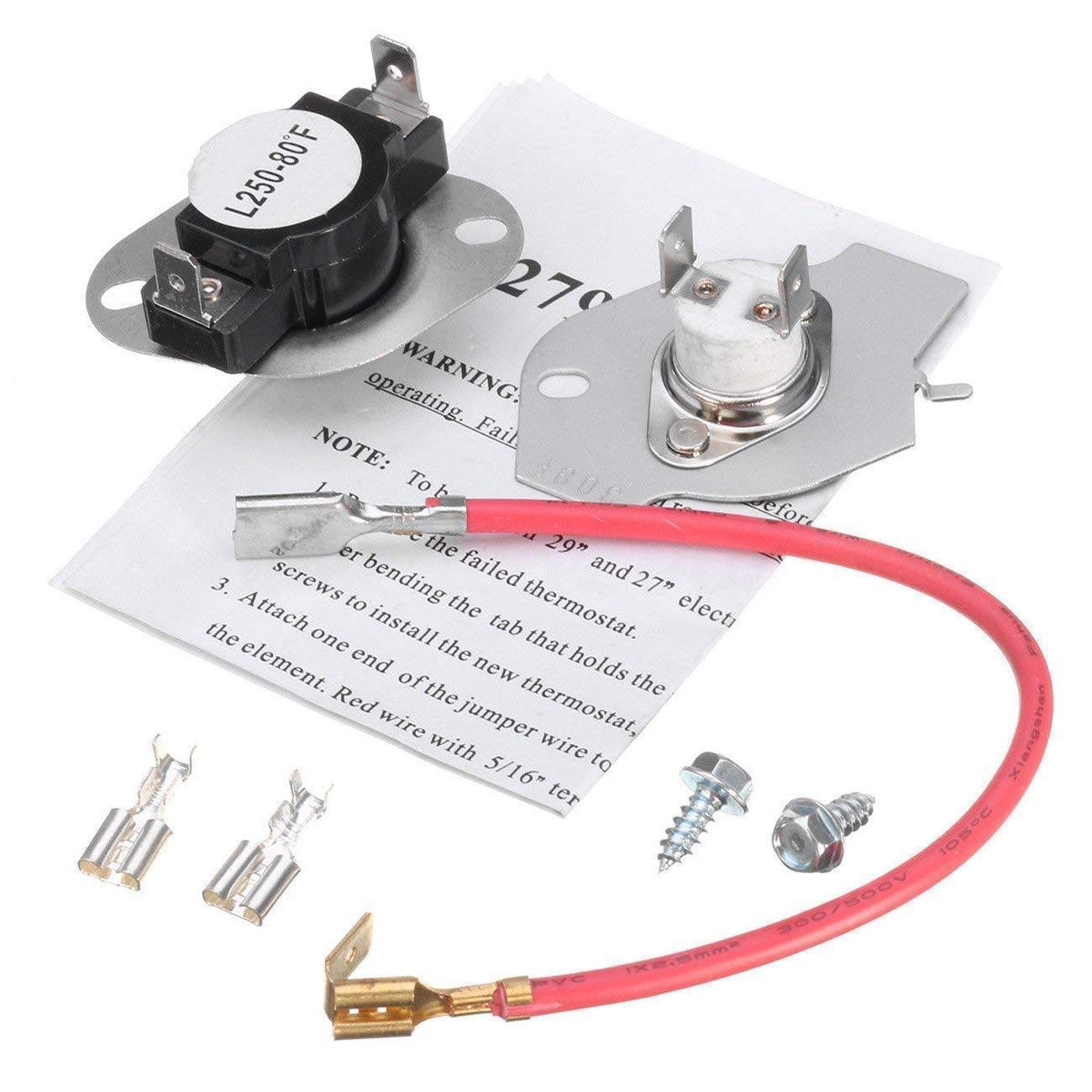 ANTOBLE 279816 Dryer Thermostat Kit Replacement for Whirlpool & Kenmore Dryer 3399848 3977393 AP3094244 …