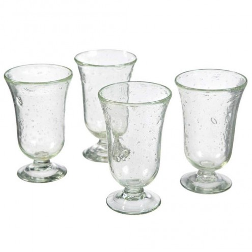 Clear Recycled Glass Wine Goblets - Set of 4 V0202