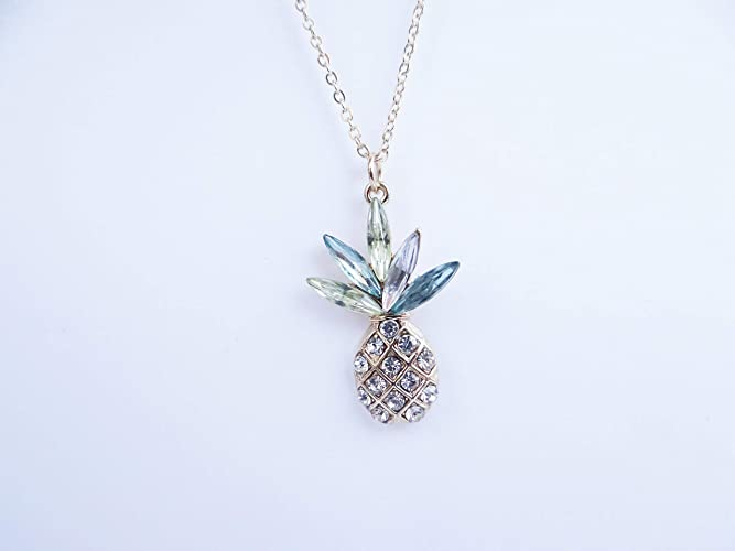 cc3a61bcd6e291 Gold Pineapple Necklace by Star Stuff Boutique, Pineapple jewelry, Aloha  Fruit Necklace, Pineapple Charm Jewelry, Gold Neckalce, Hawaiian Necklace,  ...