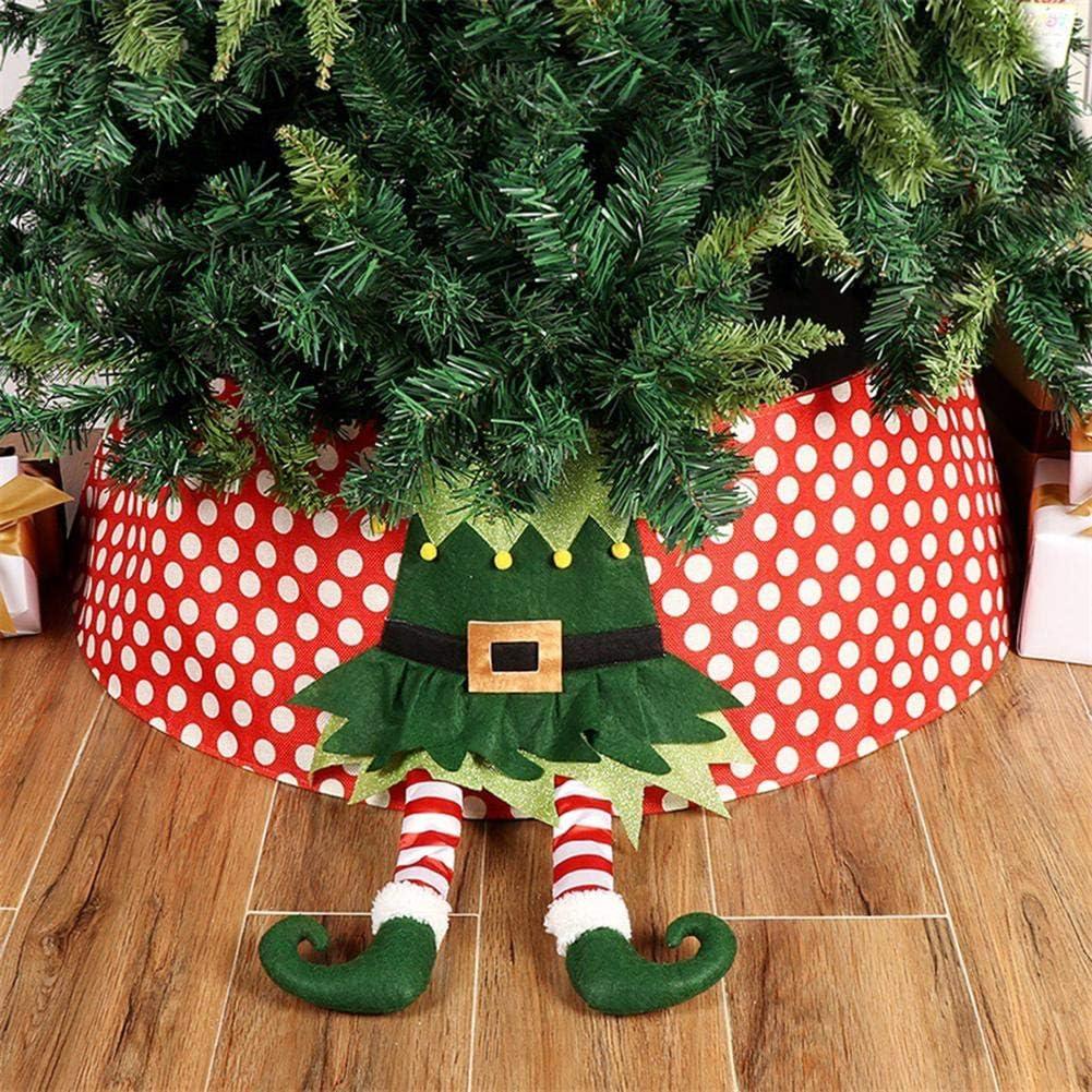 Christmas Tree Skirt Non-wove Christmas Tree Cover Christmas Tree Stand Cover Pad Carpet for Santa Claus Decor