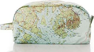 product image for Sea Bags Recycled Sail Cloth Antique Bar Harbor Map Toiletry Bag