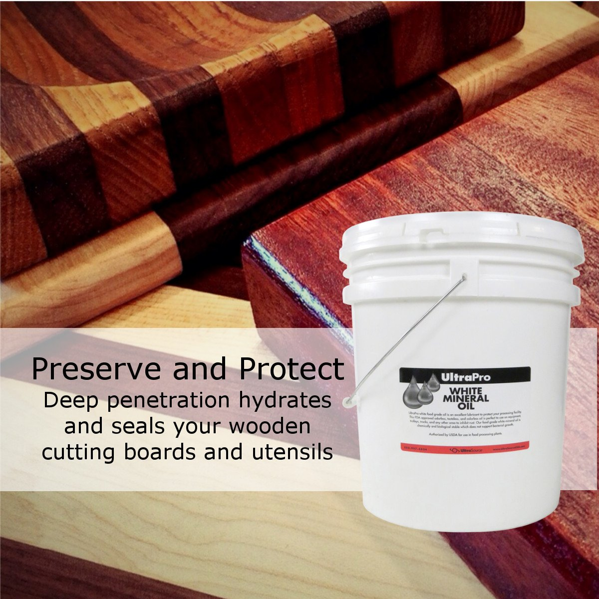 5 Gal - Food Grade Mineral Oil for Stainless Steel, Cutting Boards and Butcher Blocks, NSF by UltraSource (Image #2)