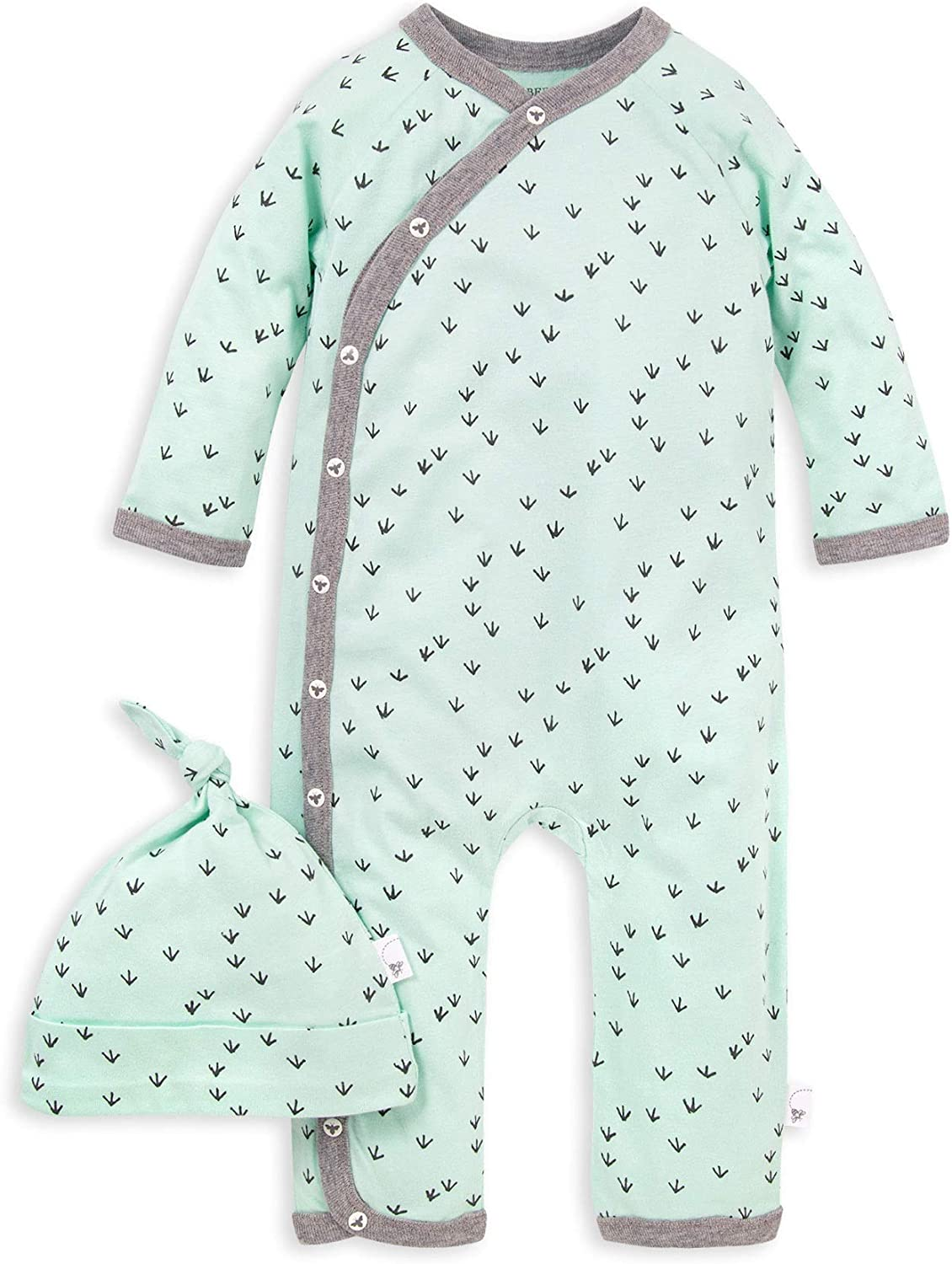 Burt's Bees Baby Baby Boys' Romper Jumpsuit, 100% Organic Cotton One-Piece Coverall
