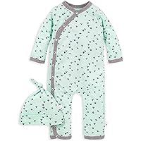 Burt's Bees Baby Baby-Boys Matelasse Organic Baby Kimono One Piece Jumpsuit