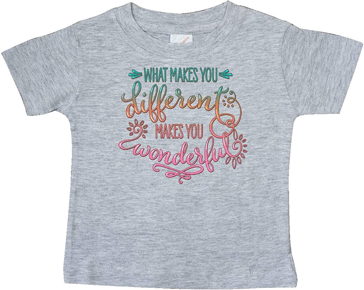 inktastic What Makes You Different Makes You Wonderful Teal Pink Baby T-Shirt