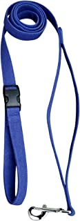 "product image for Hemp Canvas Basic Leashes (1"" City Clicker, Blue)"