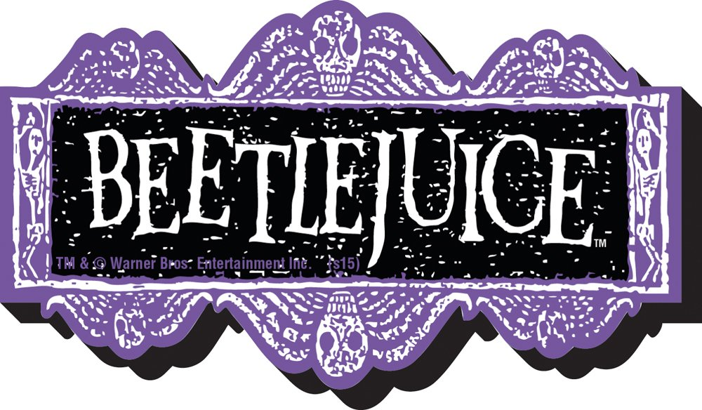 Aquarius Beetlejuice Logo Funky Chunky Magnet