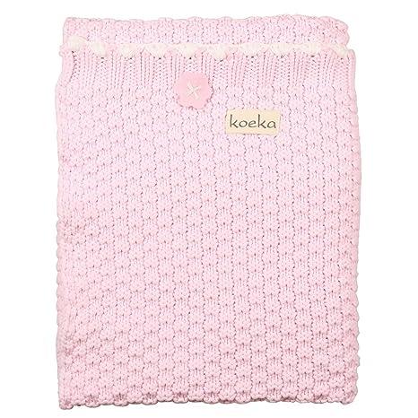 Koeka Valencia 1051/44-041.406 Cuna Manta Antiguo Baby Pink