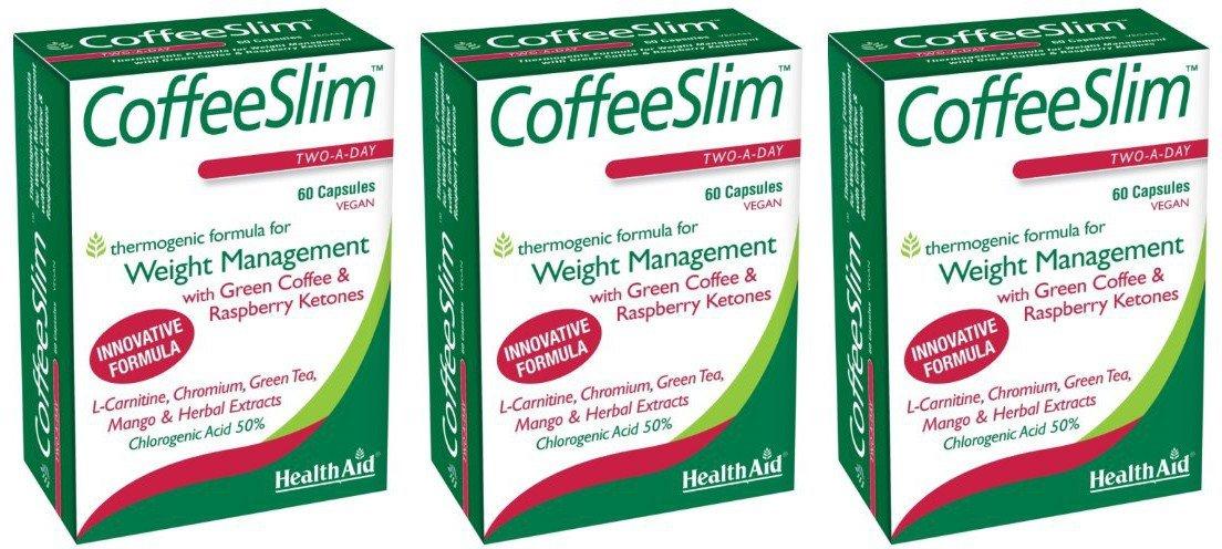 (3 PACK) - HealthAid - Coffeeslim | 60 Vegicaps | 3 PACK BUNDLE