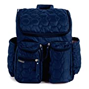 Diaper Backpack by Wallaroo - with Stroller Straps, Wet Diaper Bag and Changing Pad – for Women and Men - 28 Liters (Large) - Blue