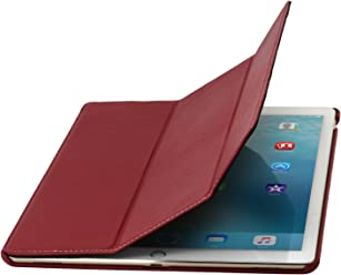 "StilGut Couverture Case, Custodia in Pelle Pregiata per Apple iPad PRO 12.9"" (2015), Rosso"