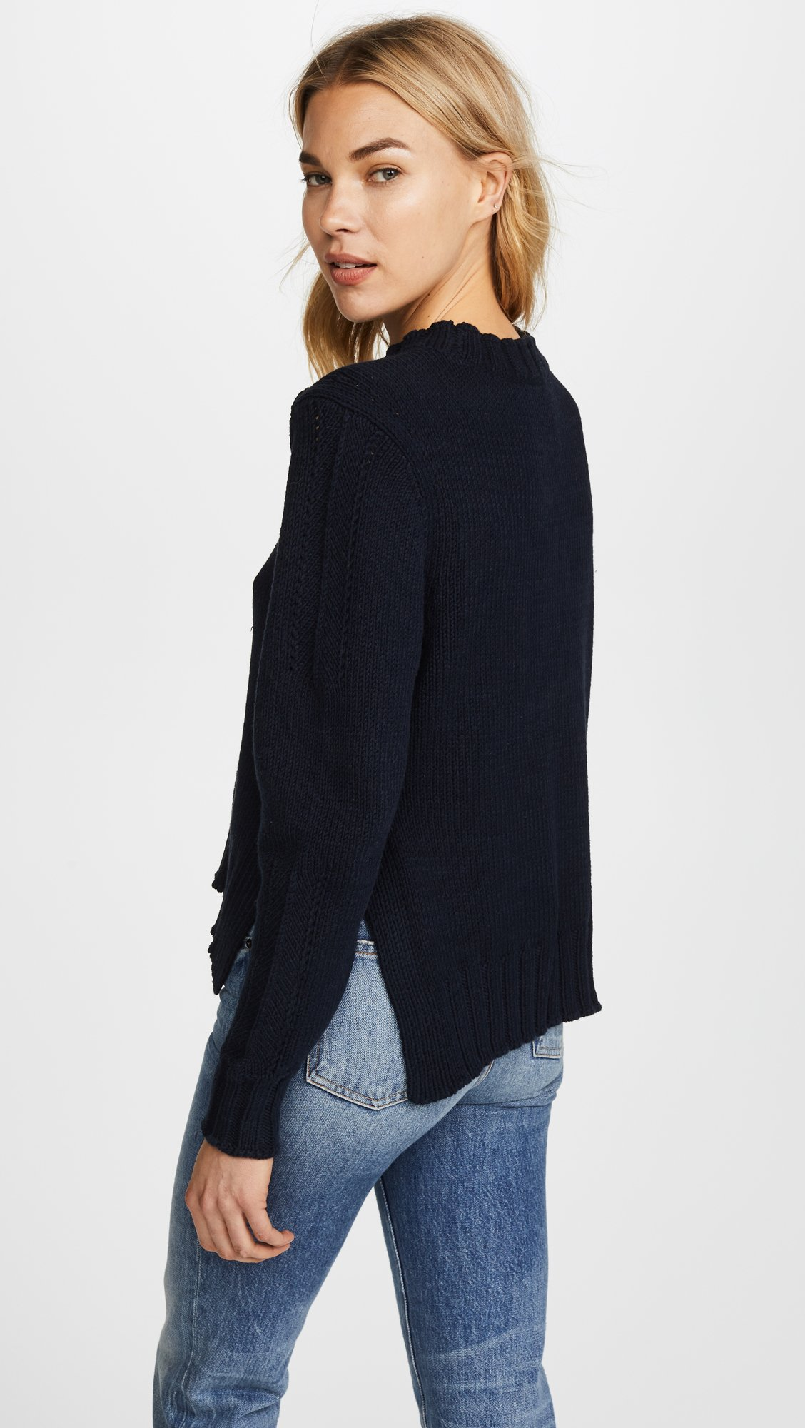 360 SWEATER Women's Kendra Sweater, Midnight, X-Small by 360SWEATER (Image #3)