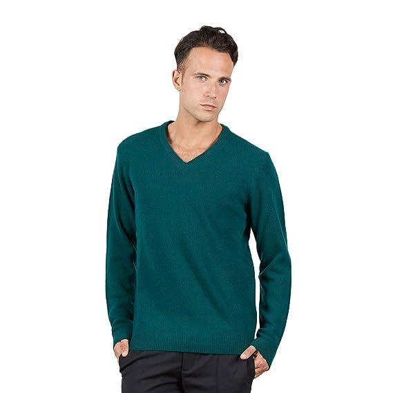 68eabedf9afc BRUNELLA GORI - Collection Homme 2018 - Pull à col en V 100% Laine  Amazon. fr  Vêtements et accessoires