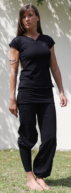 Farishta en algod/ón org/ánico, Color Schneeweiss, tama/ño Medium /Camiseta con Cuello de V Esparto /¨ Farishta/
