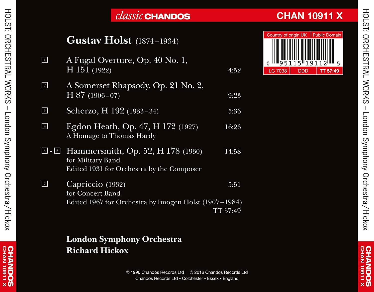Holst / Orchestral Works: London Symphony Orchestra, Gustav Holst: Amazon.es: Música