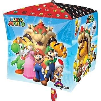 Amscan 3201201 15 X 15 Zoll Super Mario Bros Cubes Deko Set Amazon