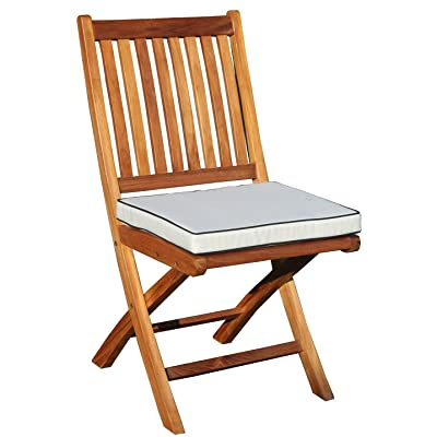 CHIC TEAK Cushion for Santa Barbara Folding Chair - Only Fits Our Brand Folding Chairs (Models HJ167 and HJ168): Home & Kitchen