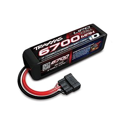 Traxxas 2890X 6700 mAh 14.8V 4-Cell 25C LiPo Battery Vehicle: Toys & Games