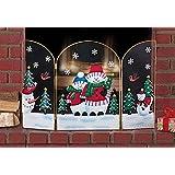Amazon.com: Holiday Nativity Fireplace Screens: Kitchen & Dining