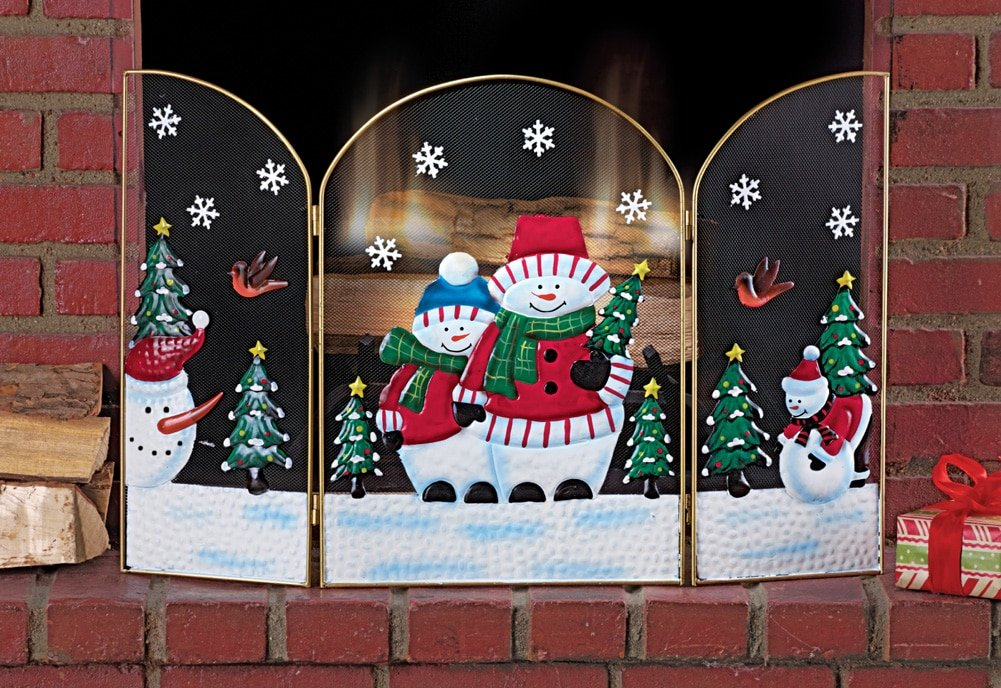 Buy Snowman Christmas Fireplace Screen: Home Décor - Amazon.com ? FREE DELIVERY possible on eligible purchases