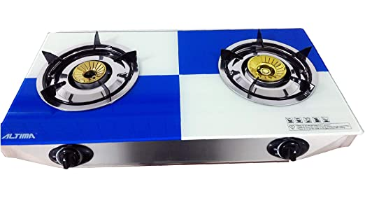 NJ NSD-2 Gas Stove 2 Burners 70cm Portable Indoor Caravan Cooker LPG 7.2 kW FFD