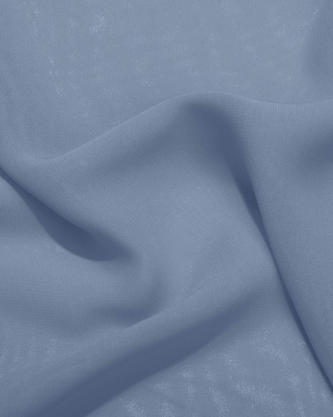 LANSITINA Solid Color Sheer Chiffon Fabric by The Yard for Draping and Dresses (5 Yards)(Dusty Blue)