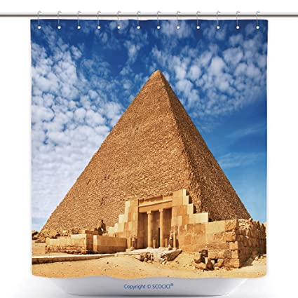 Amazon Com Vanfan Funky Shower Curtains Ancient Egyptian Pyramid In