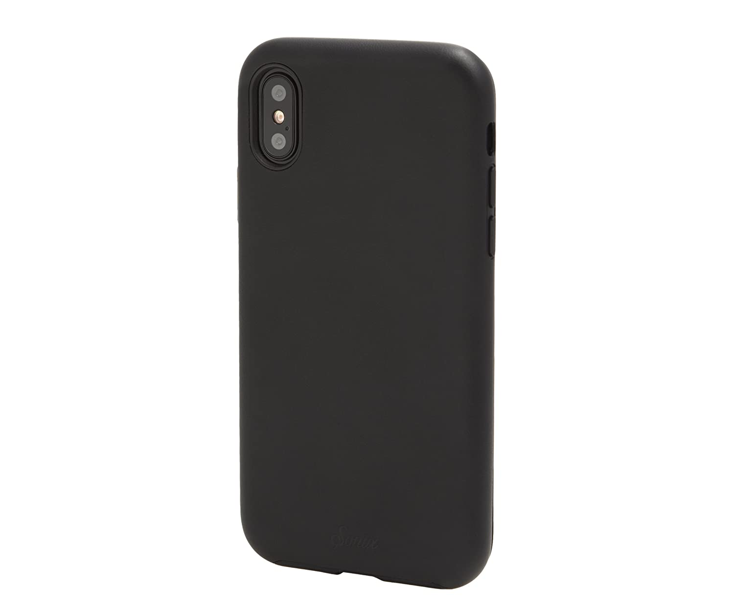 Amazon.com: iPhone Xs, iPhone X, Black Vegan Leather Cell Phone Case [Military Drop Test Certified] Protective Leather Case for Apple iPhone X, ...