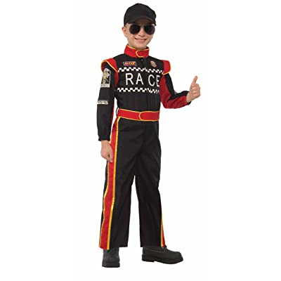 Forum Novelties Kids Race Car Driver Costume, Multicolor, Small: Toys & Games