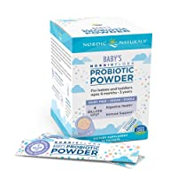 Nordic Naturals Baby's Nordic Flora Probiotic Powder, Unflavored - 30 Packets - 4 Billion CFU - Digestive Health & Immune Support for Babies & Toddlers (6 Months to 3 Years) - 30 Servings