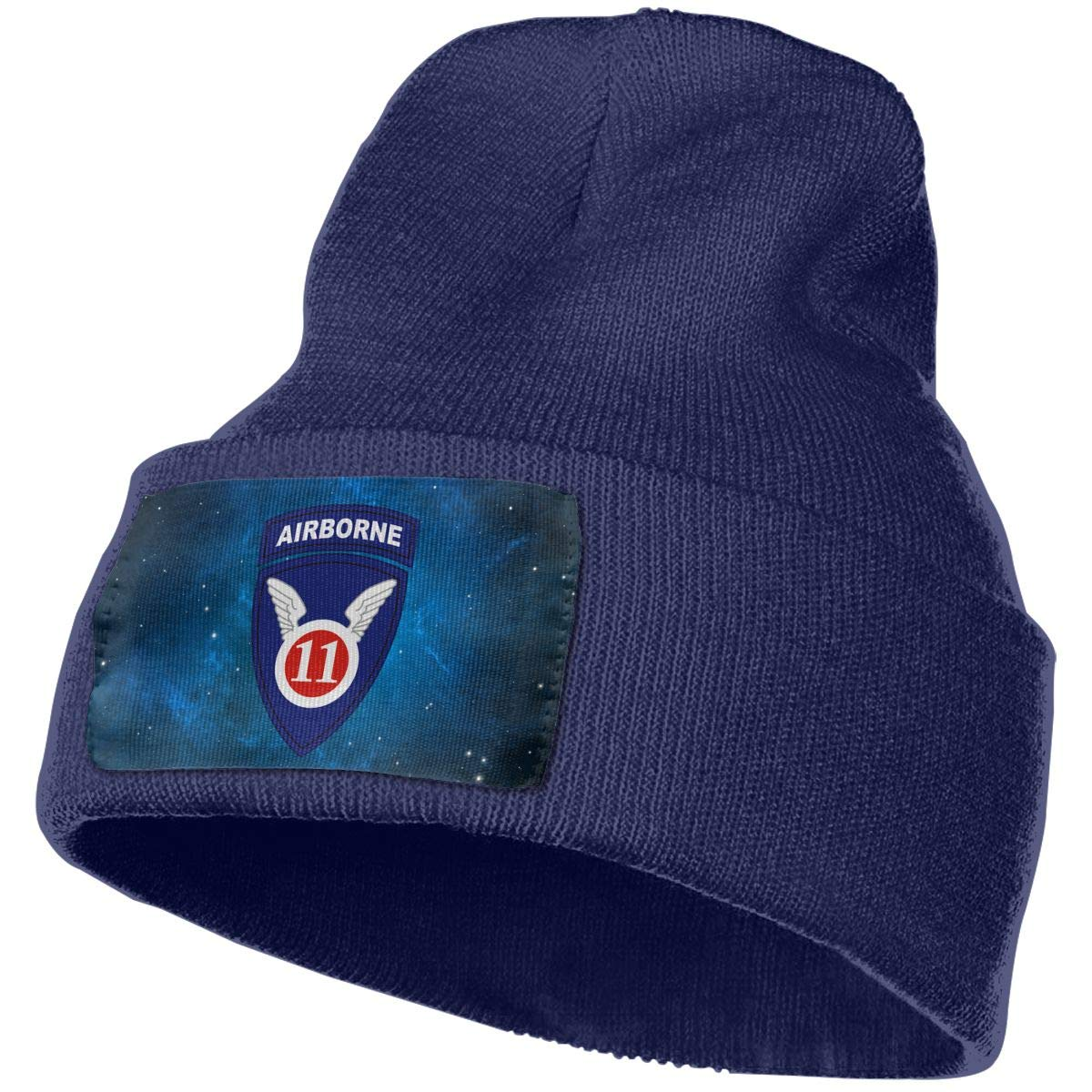 Helidoud Army 11th Airborne Division Winter Beanie Hat Knit Skull Cap for for Men /& Women
