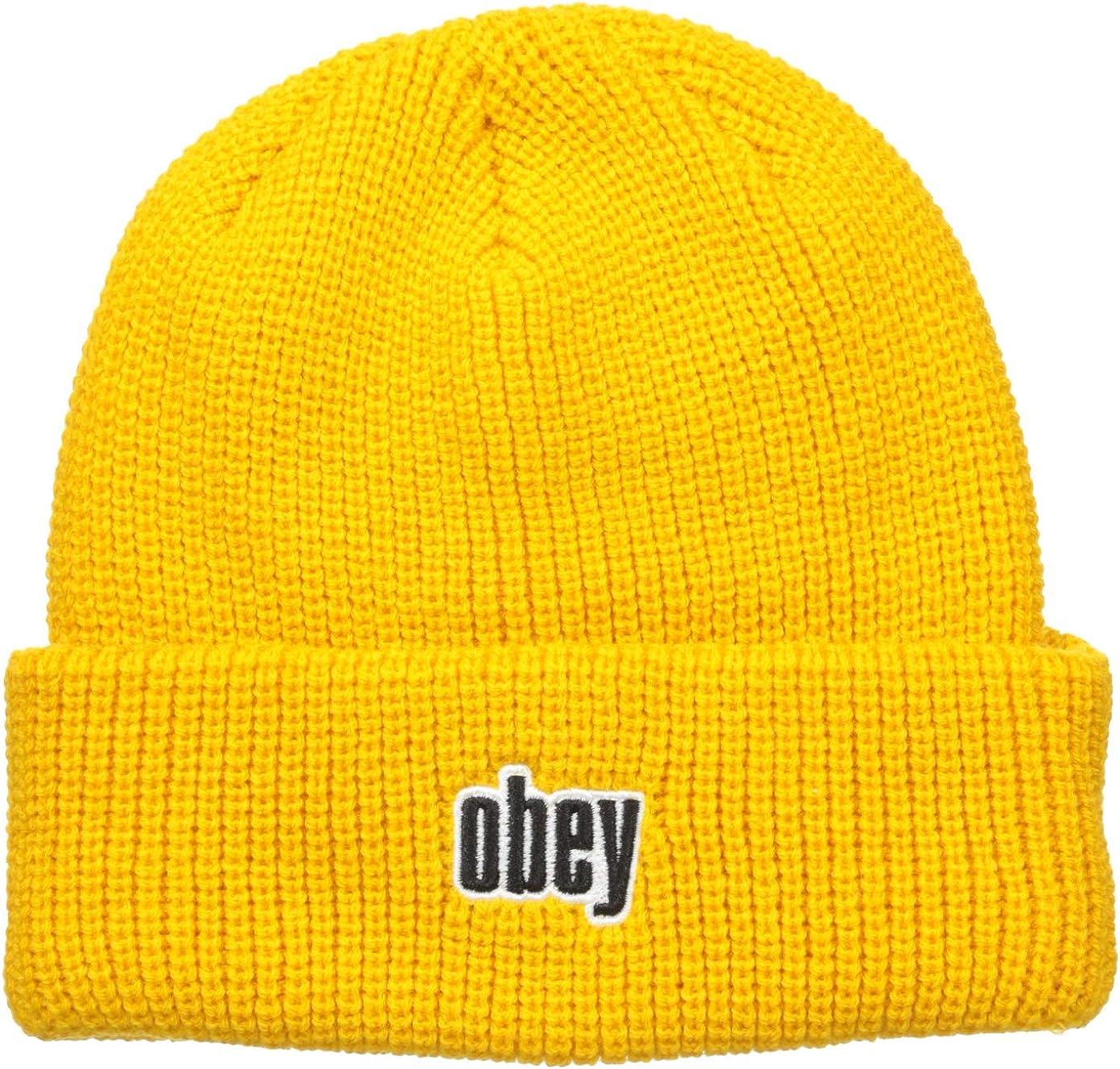 Obey - Gorro de Punto - para Hombre Amarillo Amarillo Talla única ...