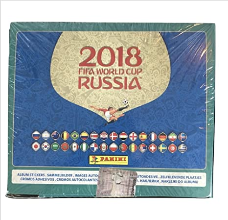 71b778b4b Image Unavailable. Image not available for. Color: Panini World Cup Russia  2018 International Version Sticker Box ...