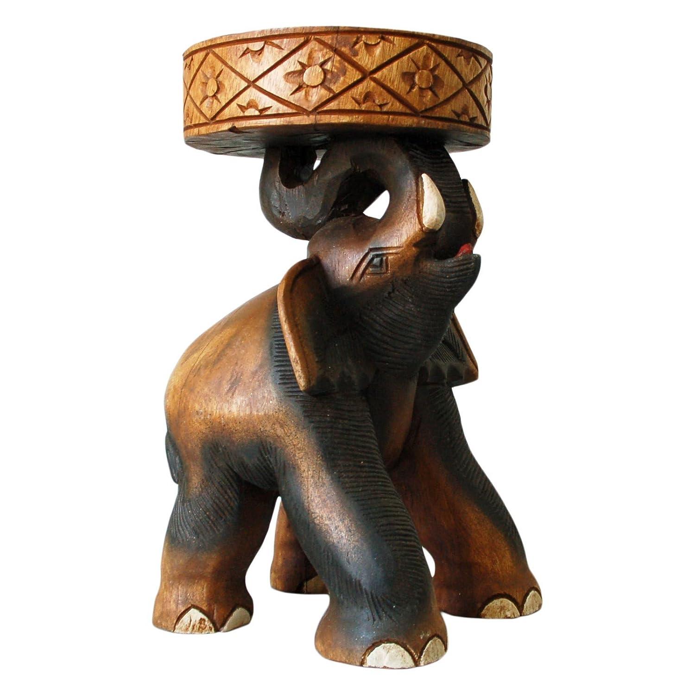 Tavolino elefante piedistallo, tavolino da caffè, sgabello, importato dalla Thailandia (10992) Wilai