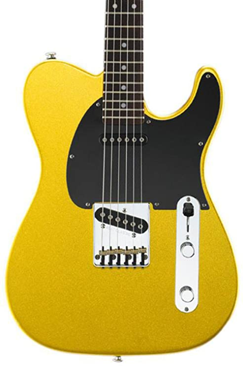G & L antisatélite Classic guitarra eléctrica YUKÓN oro metálico ...