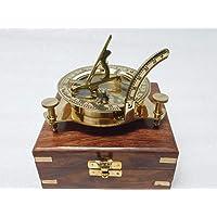 KHUMYAYAD 3 inch Messing kompas zonnewijzer maritieme nautische vintage antieke nautische zonnewijzer kompas