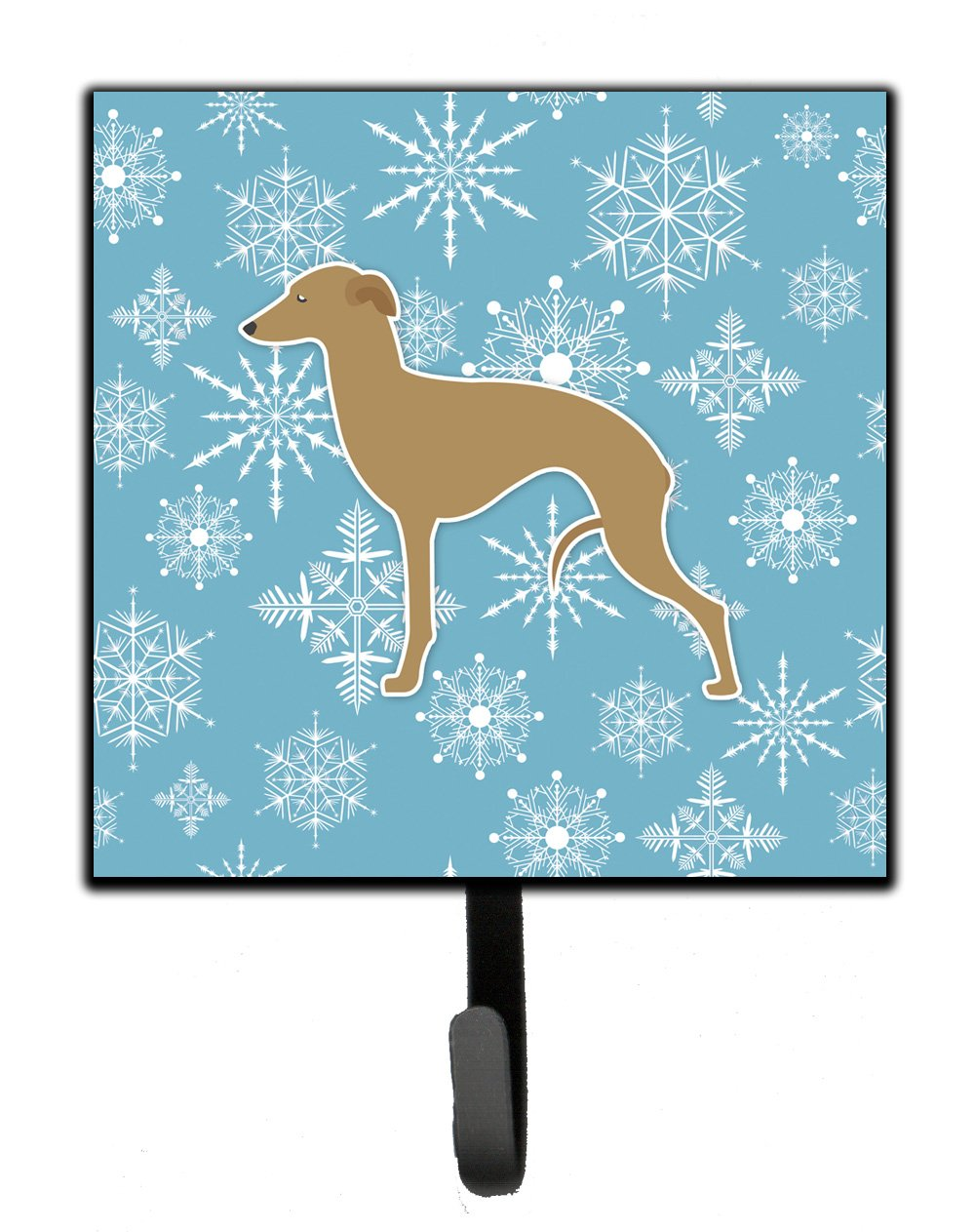 Carolines Treasures BB3514SH4 Winter Snowflake Italian Greyhound Leash or Key Holder 7Hx4.25W Multicolor