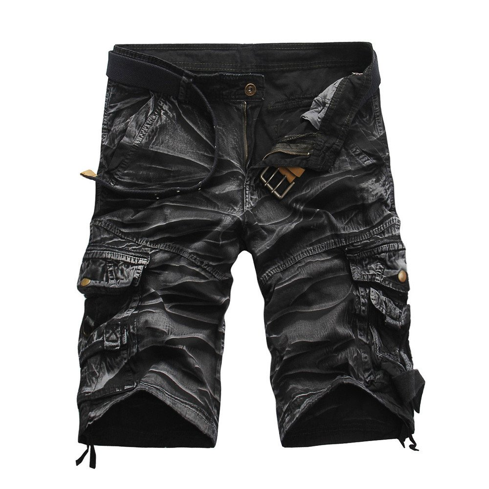 Men's Cargo Shorts,Clearance-Fashion Casual Loose Relaxed Fit Multi-Pocket Camouflage Jogger Beach Pants