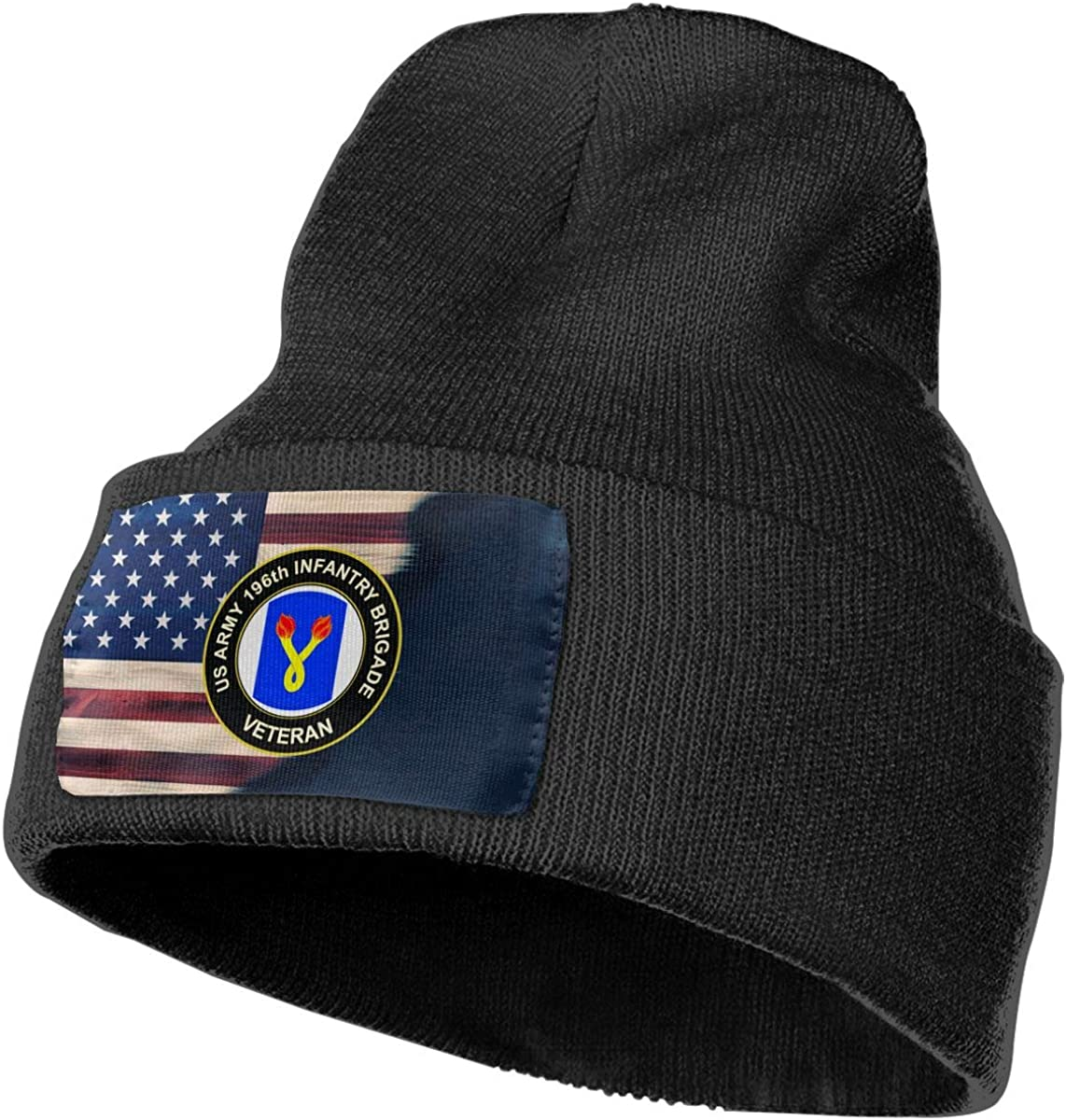 US Army 196th Infantry Brigade Veteran Mens Beanie Cap Skull Cap Winter Warm Knitting Hats.