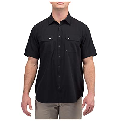 5.11 Tactical Men's Cotton Fabric Herringbone Short Sleeve Button-Up Shirt,Style 71375: Clothing