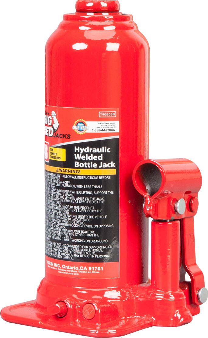 8 Ton Capacity Torin Big Red Hydraulic Bottle Jack