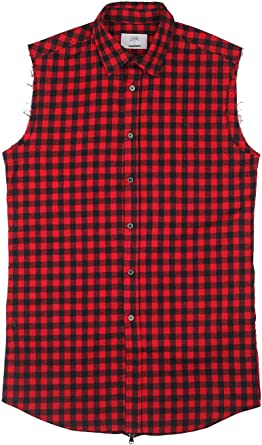 Camisa sin mangas Sixth June cuadros rojo/negro 1648 C ...