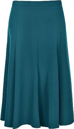 Sonia Fashions - Falda lisa por debajo de la rodilla (66 cm) para ...
