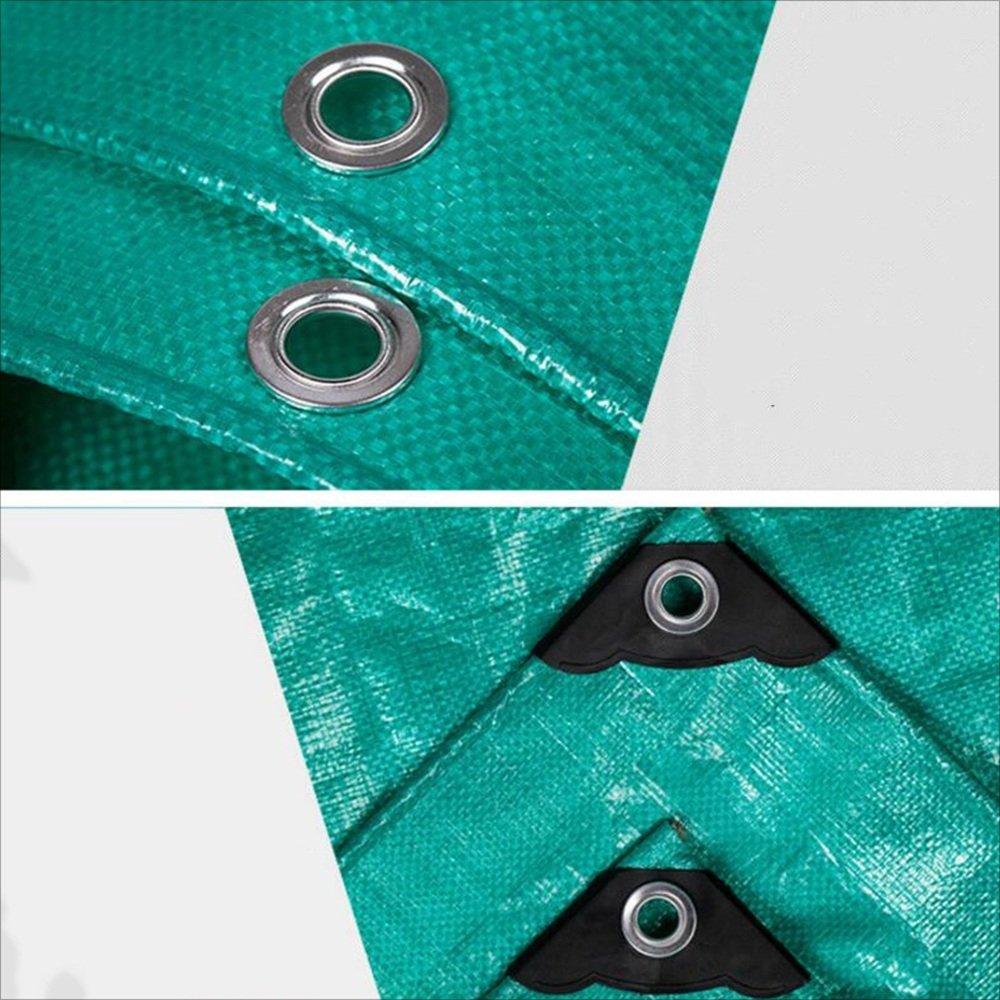 DNSJB Matériel  Polyéthylène (Matière Plastique) Surface  à tissé Imperméable à  l'eau La Couleur Verte Poids  200g m² Épaisseur  0.45mm, Hochwertige Plane (Größe   4x6m) 014d32