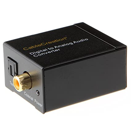 CableCreation Digital Coaxial & Toslink to Analog Audio Converter Adapter CD0055