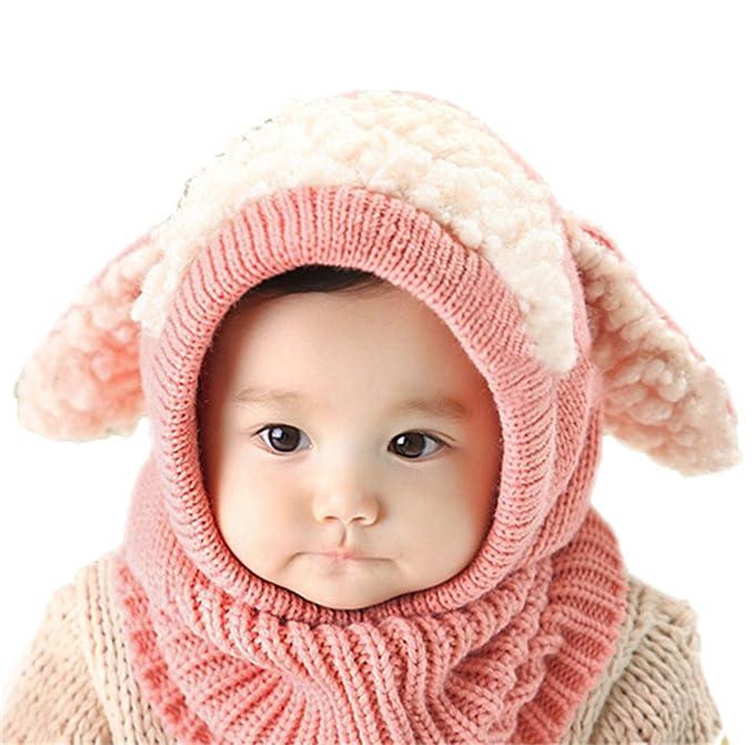 Unisex Bambino Moda Autunno Inverno Orecchie Di Cane Berretto In Maglia  Bambini Cappello 1ba11f177f3a